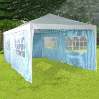 High Quality 10' X 20' White & Blue Party Tent with Windows
