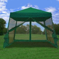8' x 8' Easy Pop Up Green Canopy Tent with Net