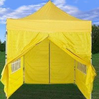 8' x 8' Easy Pop Up  Yellow Canopy / Tent
