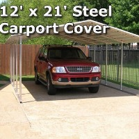 12' x 21' Steel Carport Cover Garage w/ Boxed Eaves - Installation Included