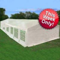 White 40' x 20' Heavy Duty Party Wedding Tent Canopy Carport