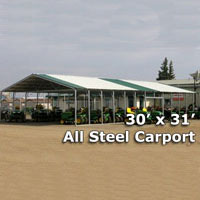 30' x 31' Steel Metal Carport - Installation Included