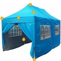 Heavy Duty 10' x 20' Light Blue Pyramid Roof Pop Up Canopy Tent