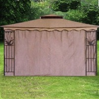 Gazebo Canopy Tent Privacy Side Wall Panel Fits 10' x 12'