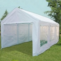 White 10' x 20' White Portable Party Tent Car Port Garage w/ Window Side Panels