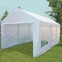 White 10' x 20' White Portable Party Tent Car Port Garage w/ Window Side Panels