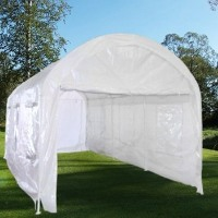 Heavy Duty 10' x 20' Pure White Arch Style Tent / Garage