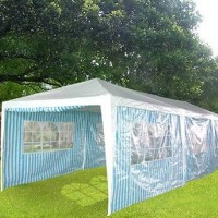 High Quality White & Blue 10' x 30' Party Tent Marquee