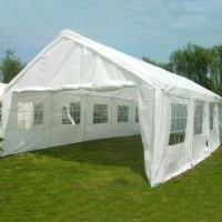 White 32' x 16' Heavy Duty Carport Shelter Party Tent