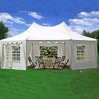 High Quality Octagonal 22' x 16' White Party Tent