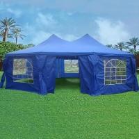 Blue 29' x 21' Octagonal Wedding  Party Gazebo Tent Canopy