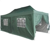 Heavy Duty 10' x 20' Green EZ Pop Up Party Tent
