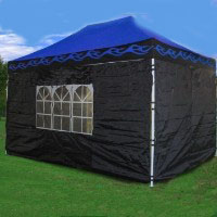 Brand New 10' x 15' Blue Flames Pop Up  Canopy / Tent