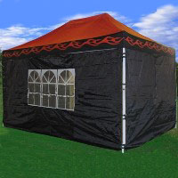 Brand New 10' x 15' Red Flames Pop Up  Canopy / Tent