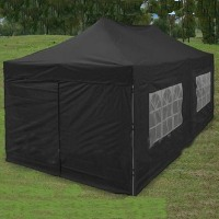 Black 10u0027 x 20u0027 Pop Up Canopy Party Tent : pop up 10x20 canopy - memphite.com