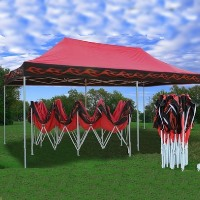 Red Flame 10' x 20' Pop Up Canopy Party Tent