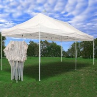 White 10' x 20' Pop Up Canopy Party Tent