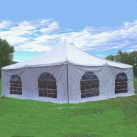 Royal White 20' x 20' PVC Pole Party Tent
