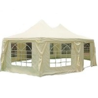 Beige Extra Large 29.5' x 21.3' Octangle Party Tent