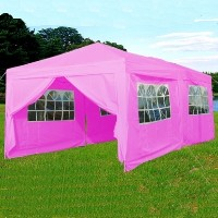 10x20 Pink Easy Set Pop Up Party Tent Canopy Gazebo