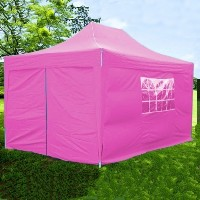 10x15 Easy Pop Up Pink Party Tent Canopy Gazebo