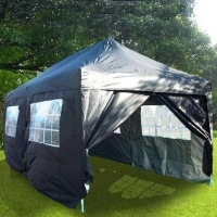 Heavy Duty 10' x 20' Black EZ Pop Up Party Tent