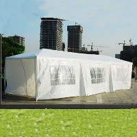 10 x 30 White Gazebo Party Tent Canopy