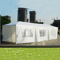10 x 30 White Gazebo Party Tent Canopy