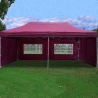 Maroon 10' x 20' Pop Up Canopy Party Tent