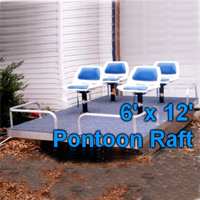 Brand New 6 ft x 12 ft. Pontoon Boat w/ Seats