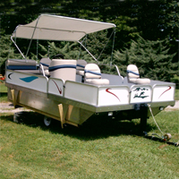 Brand New 8 ft x 12 ft. Pontoon Boat w/ Seats & Trailer