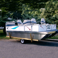 Brand New 8 ft x 14 ft. Pontoon Boat w/ Seats + Swim Deck + Trailer