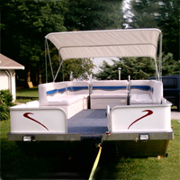 Brand New 8 ft x 15 ft. Pontoon Boat w/ Seats & Trailer