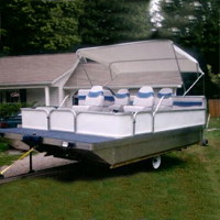 Brand New 8 ft x 16 ft. Pontoon Boat w/ Seats & Trailer