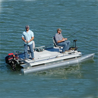Brand New 13.9 ft Two Person Professional Pontoon Fishing Boat