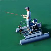 Brand New 6 ft One Person Mini Pontoon Fishing Boat