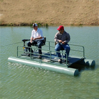 Brand New 10 ft Two Person Pontoon Fishing Boat