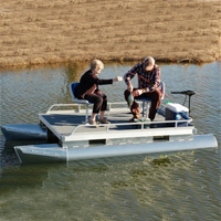 Brand New 12 ft Two Person Pontoon Fishing Boat