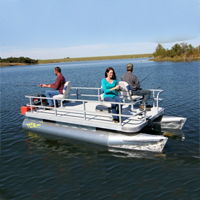Brand New 14.5 ft Three Person Ultra Family Pontoon Fishing Boate Person Professional Pontoon Fishing Boat