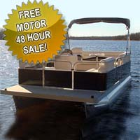 "19 ft Crusing Pontoon Boat w/ 23"" Tubes & Front Couches"