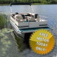 "19 ft Fishing & Crusing Pontoon Boat w/ 23"" Tubes & Front Fishing Seats"