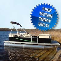 "21 ft Crusing Pontoon Boat w/ 23"" Tubes & Front Couches"