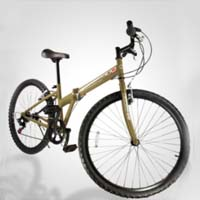 "High Quality 26"" Inch Gold and Black 6 Speed Folding Mountain Bicycle"