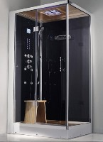 "Zen Brand New 2 Person Left Hand Walk In Corner Steam Shower - 47"" x 36"" x 89"""