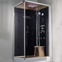 "Zen Brand New 2 Person Right Hand Walk In Corner Steam Shower - 39"" x 35"" x 89"""
