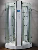 "Zen Luxury 2 Person Walk In Steam Shower - 47"" x 47"" x 89"""