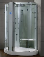 "Zen Luxury 2 Person Walk In Steam Shower - 59"" x 59"" x 89"""