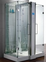 "Zen Luxury 2 Person Two Door Walk In Steam Shower - 59"" x 36"" x 89"""
