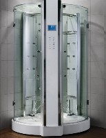"Zen Luxury 2 Person Walk In Steam Shower - 53"" x 53"" x 90"""