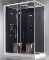 "Zen Brand New 2 Person Left Hand Rectangular Walk In Corner Shower - 59"" x 36"" x 89"""